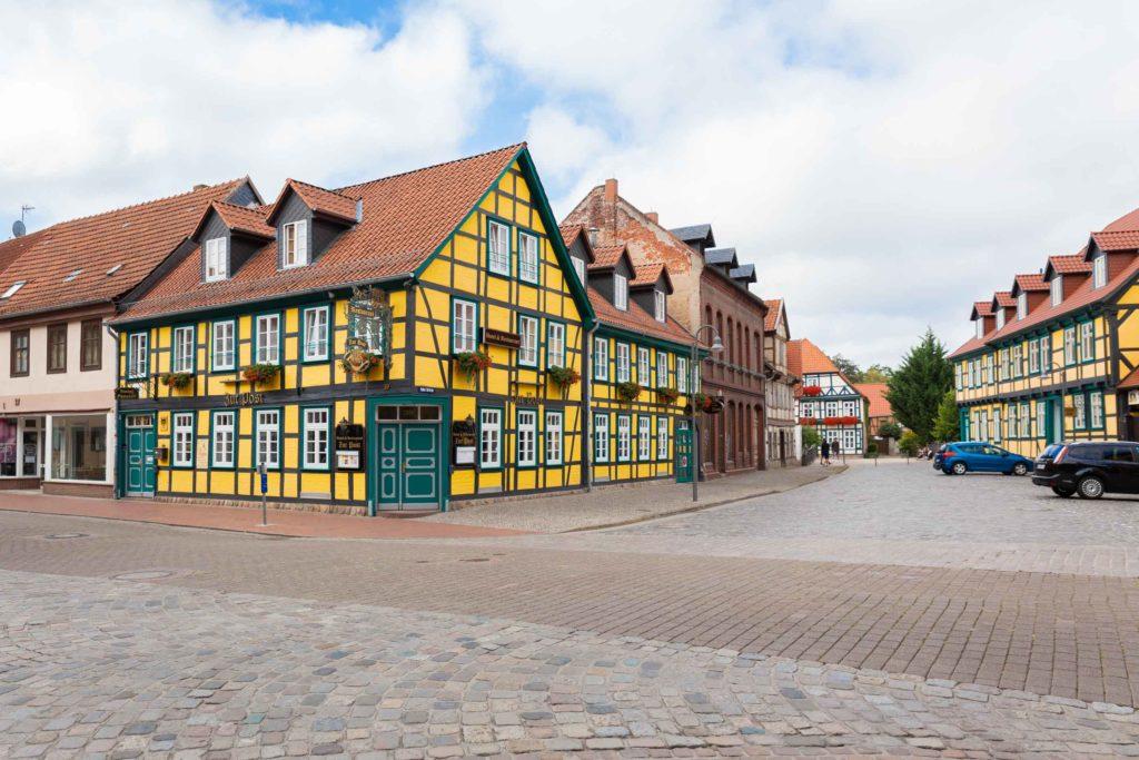 In Salzwedel gibt es viele Fachwerkhäuser zu sehen
