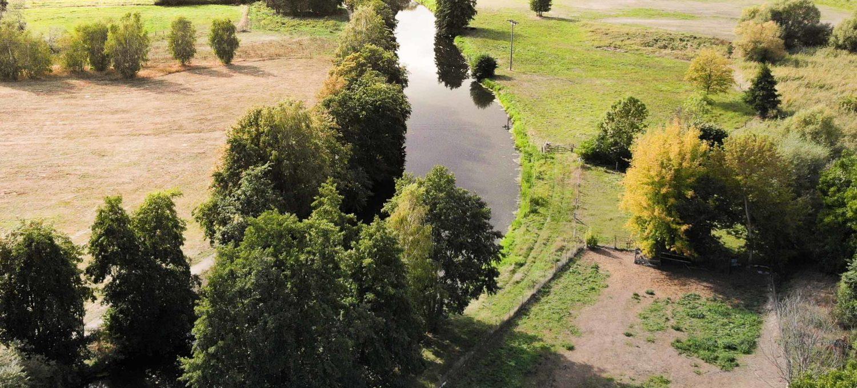 Der Fluss Biese in Osterburg