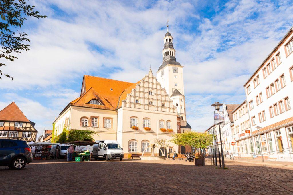 Rathaus und Marktplatz in Gardelegen